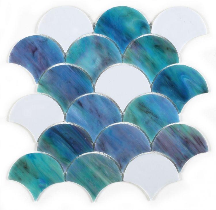 Newport Ocean Scale  Glass  Mosaic