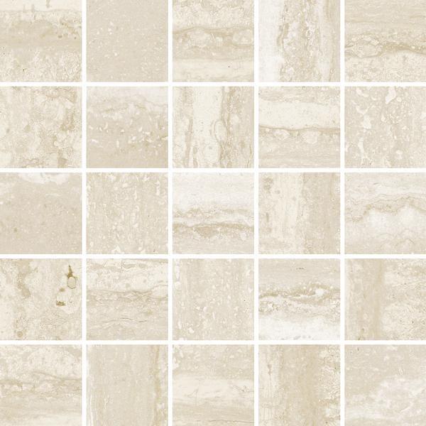 Porcelain Flow Ivory 2x2 Square r9   Mosaic