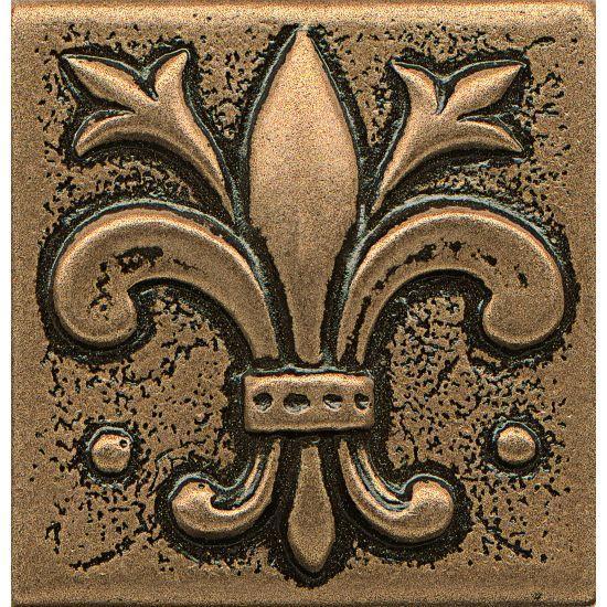 Ambiance Flor De Lis Bronze Glossy 2x2 Resin  Trim