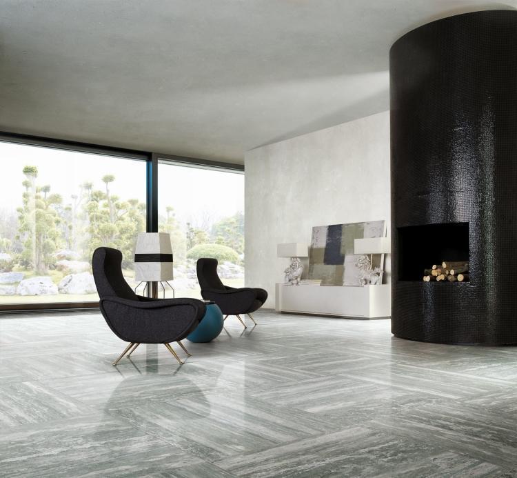 I Travertini Grey Matte 16x32 Porcelain  Tile