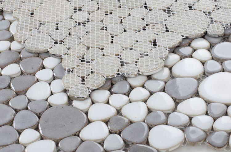 Growing Dusk Pebble  Porcelain  Mosaic