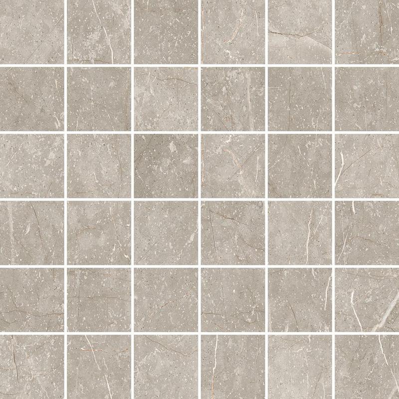 Cermodus Mexicana Silver 2x2 Square Satin Porcelain  Mosaic