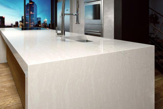 Luxury Delgatie 65.5x132, 1 cm, Polished, Cream, Quartz, Slab