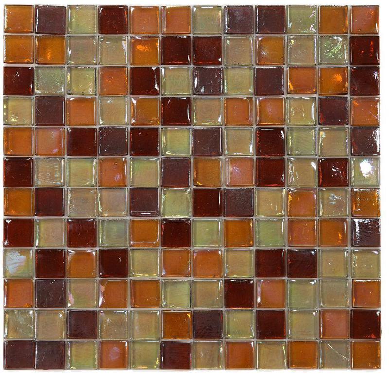 Laguna Wine 1x1 Square  Glass  Mosaic