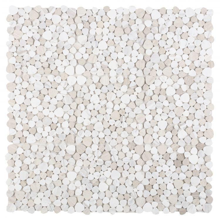 Aphrodite Loft Pebble Polished Marble  Mosaic