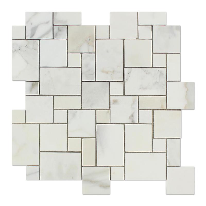 Marble Calacatta Gold Mini Polished   Mosaic