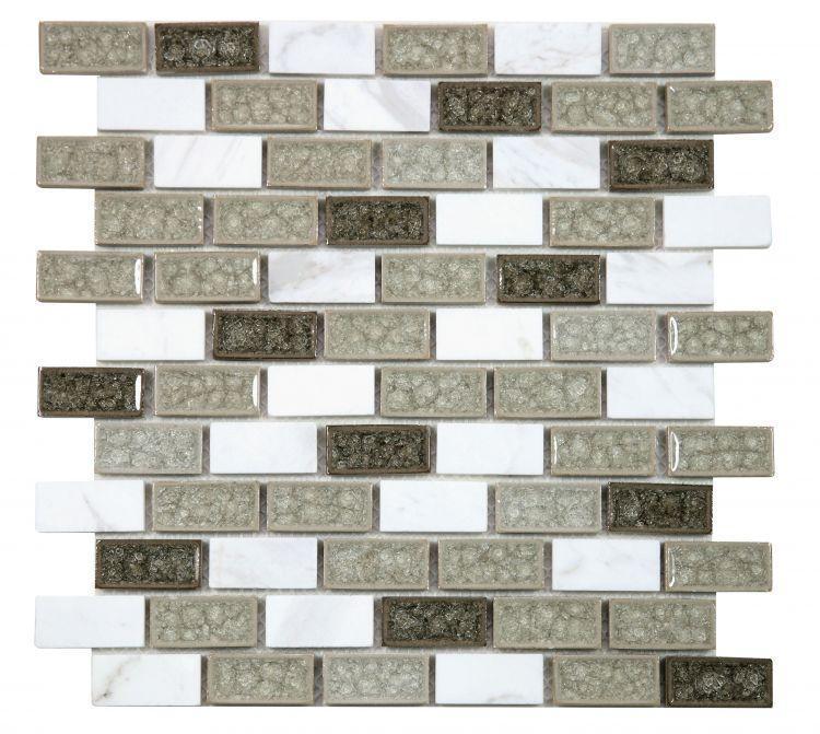 Jewel Swiss City Grey Brick  Glass  Mosaic