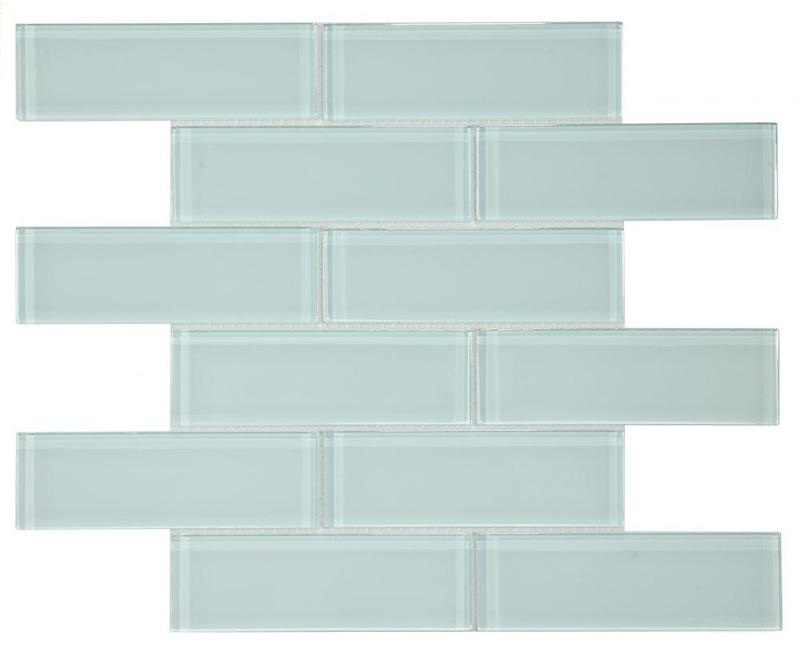 Casale Turquoise Subway Glossy Glass  Mosaic