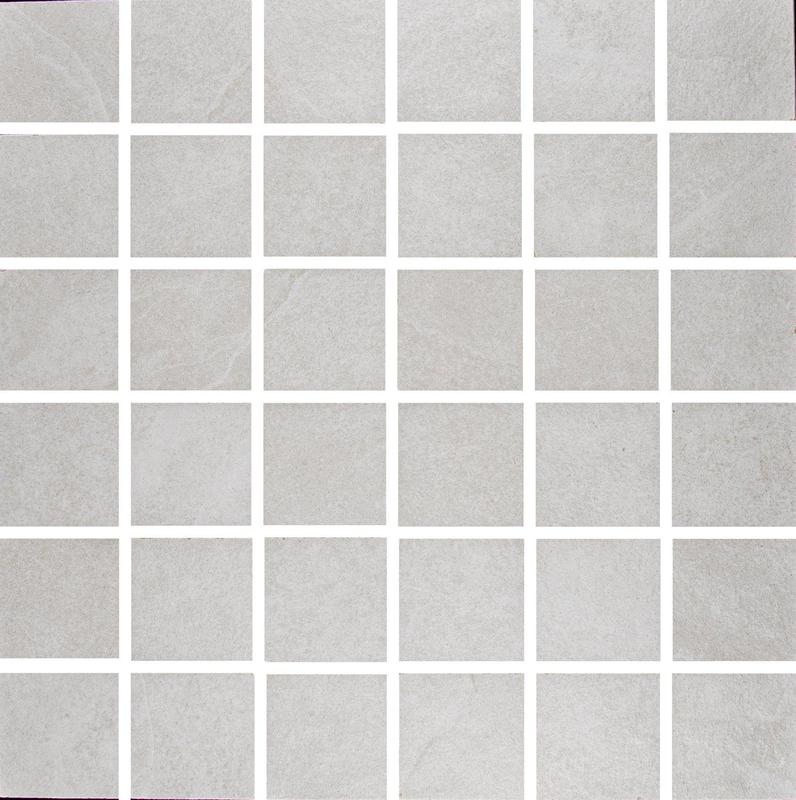 Ash White 2x2 Square Matte Porcelain  Mosaic