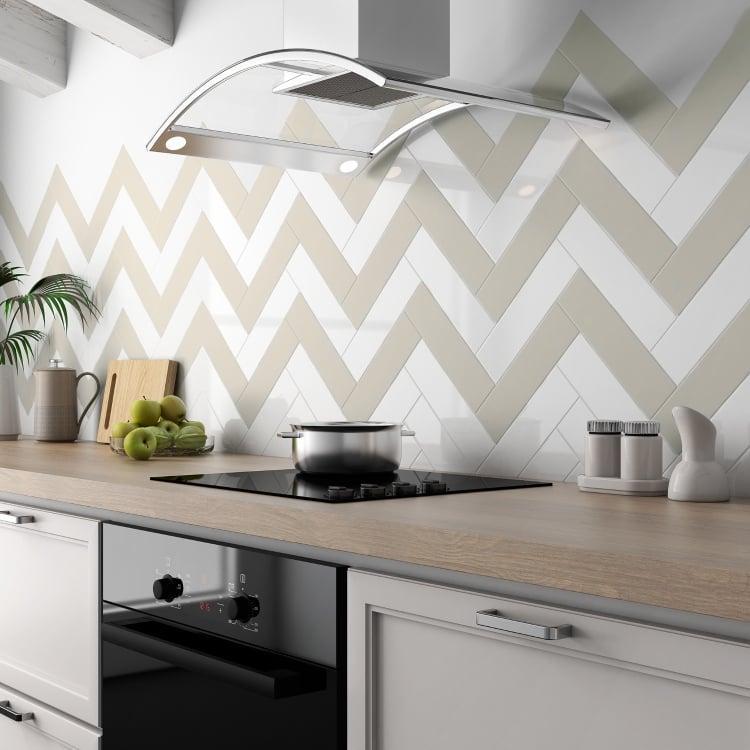 Bare White 3x12, Glossy, Ceramic, Tile