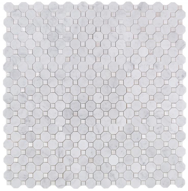 Diana Carrara Octagon  Pearl  Mosaic