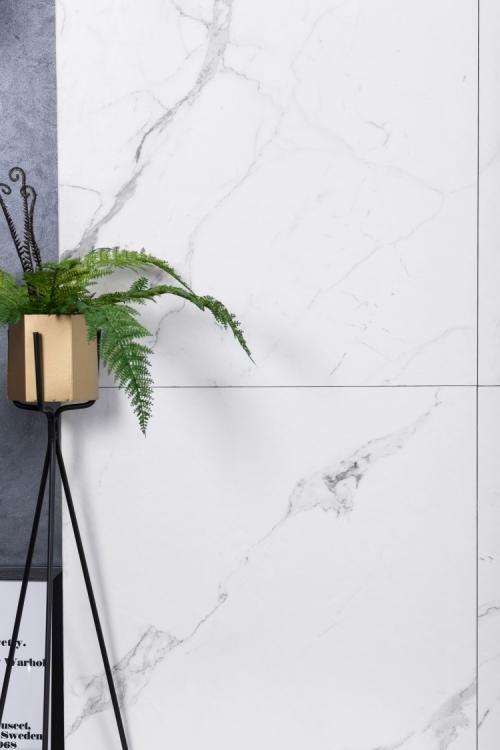 Carrara Premium Stone Glazed, Textured 24x24 Porcelain  Tile