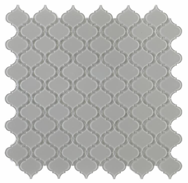 Arabesque Grey Shining Glass  Mosaic