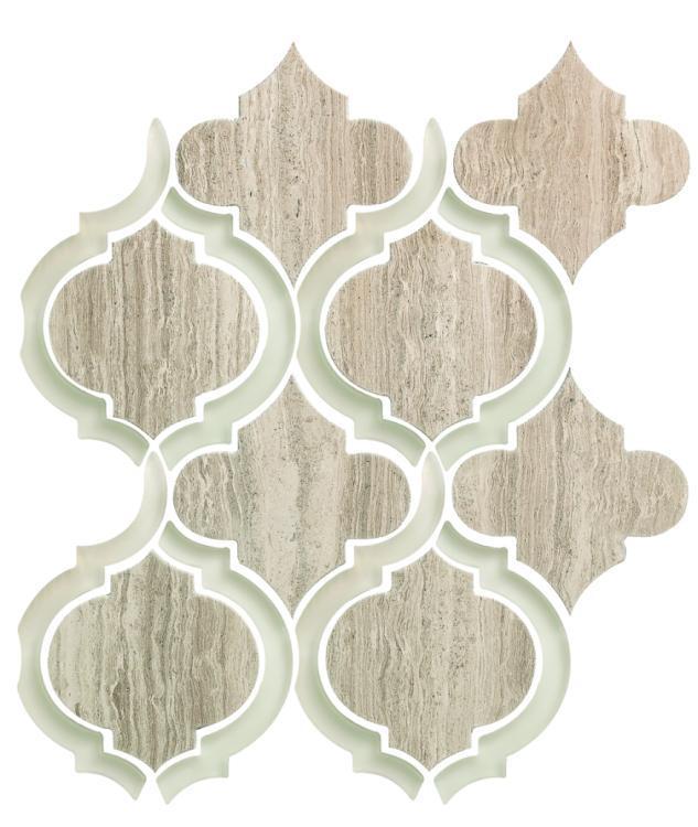 Alice Grey Arabesque Glass   Mosaic