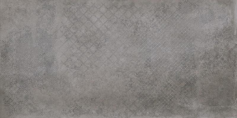 Supergres Art Stone Graphite Deco 30x60, Natural, Dark Grey, Rectangle, Porcelain, Tile
