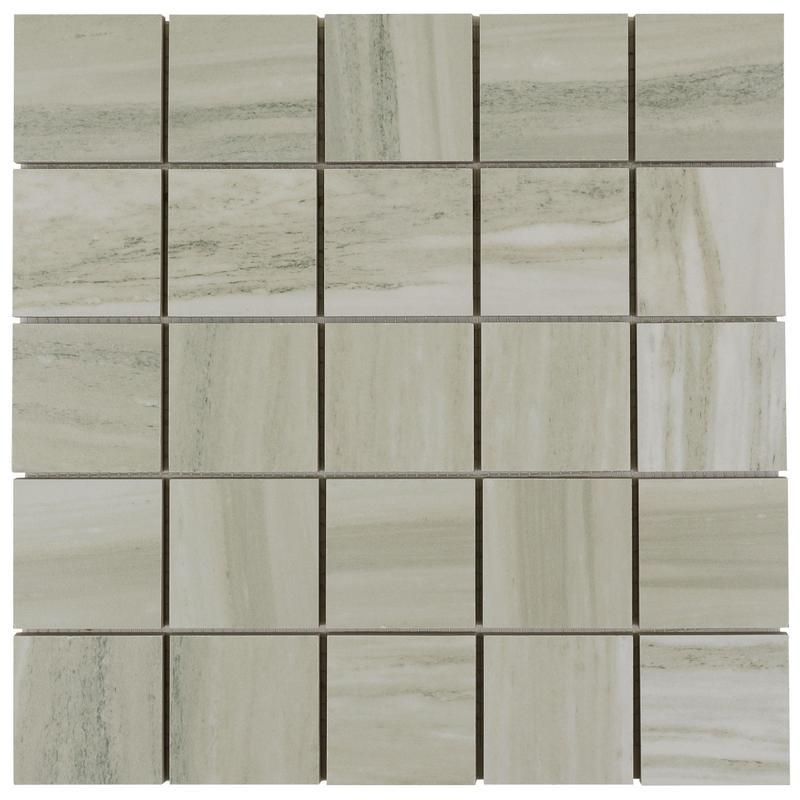 Porcelain Flow Greige 2x2 Square r9   Mosaic