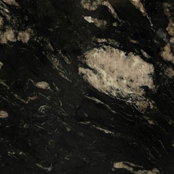 Pacifica Preto Titanium 20 mm Leather Granite Slab
