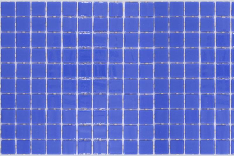 Onix Lisa Azul Celeste 1x1 Square  Glass  Mosaic