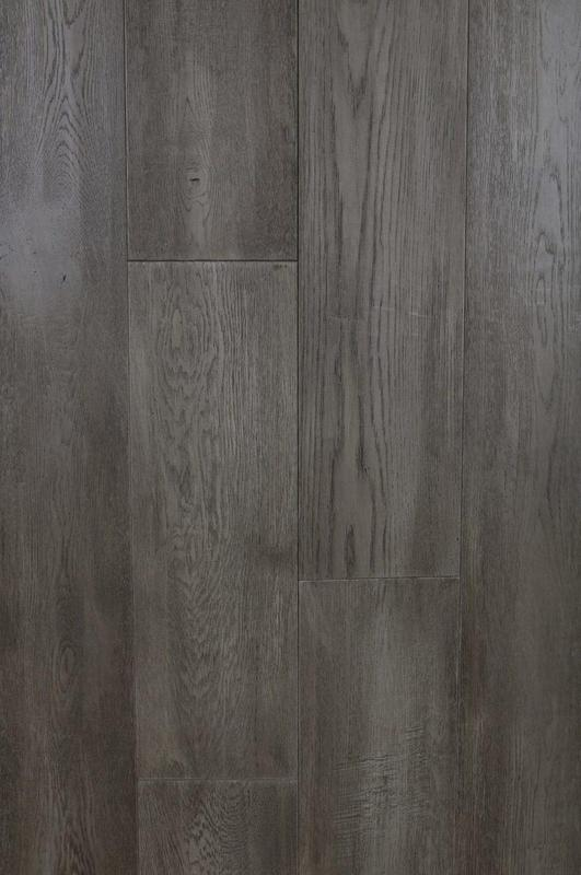 Seneca Valley Collection Quince Orchard 90 in, Wire-Brushed, Gray, European-Oak, Engineered-Wood, Trim