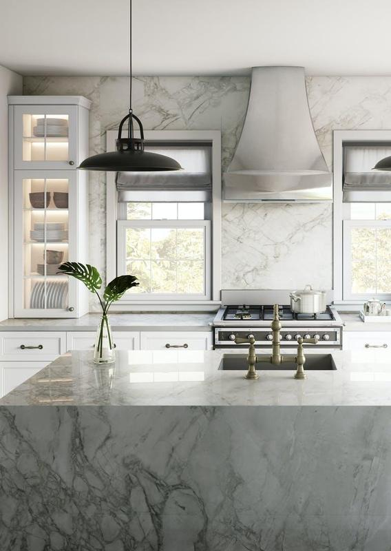Group 4 Xgloss Stonika Collection Bergen Standard Size 57x126, 20 mm, Polished, Off White, Porcelain, Slab