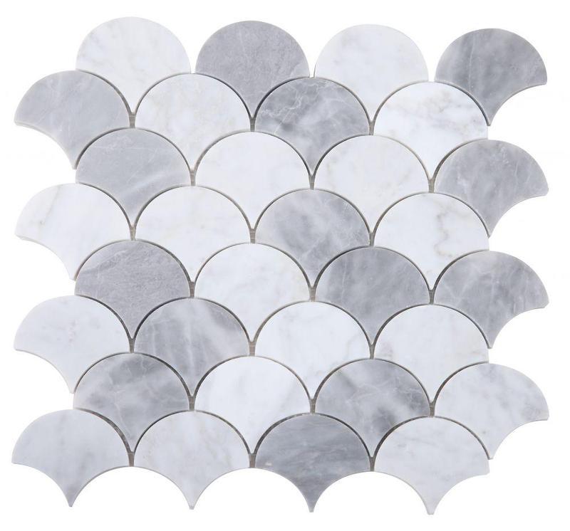 Dragon Scale Dusk Polished Marble  Mosaic