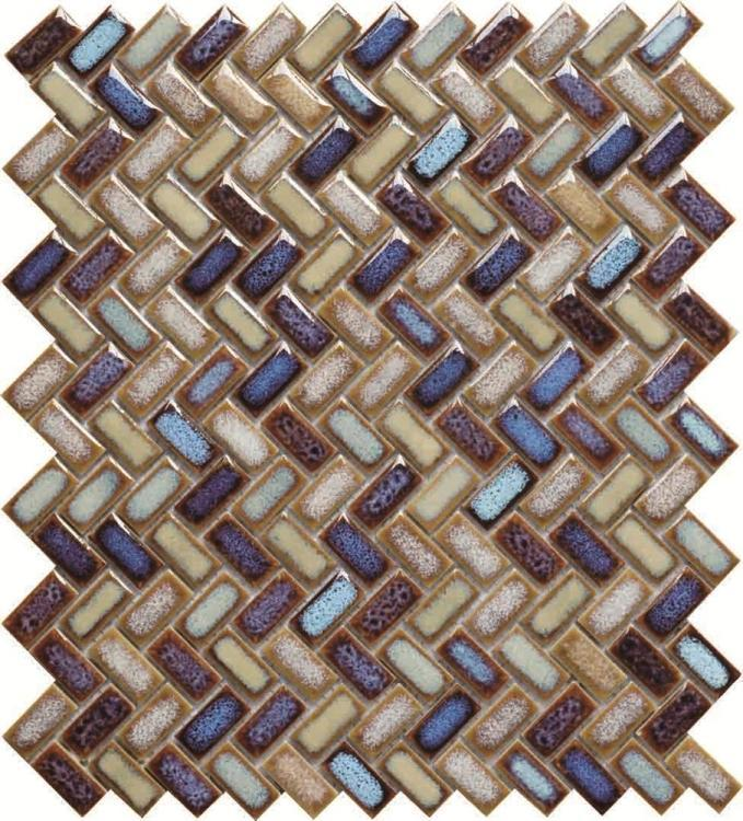 Tango Versicolor Herringbone  Porcelain  Mosaic