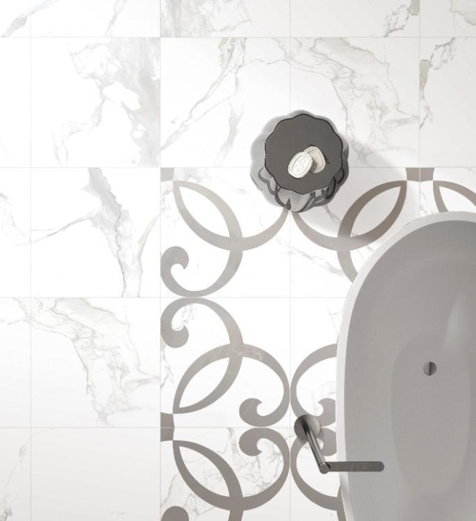 Calacatta Dorado Polished, Glazed 24x24 Porcelain  Tile