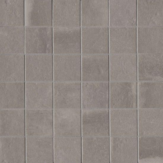 Palazzo Vintage Grey 2x2 Square Honed Color Body Porcelain  Mosaic