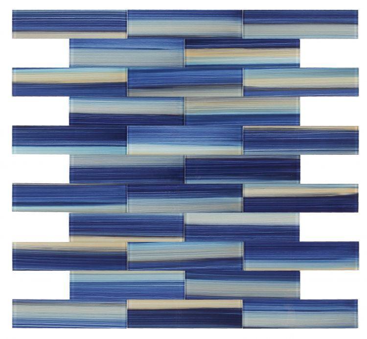 Large Glass Tile Ocean Subway Glossy   Mosaic