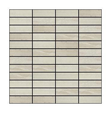 Marble Haisa Light 1x3 Stacked Honed   Mosaic (Discontinued)