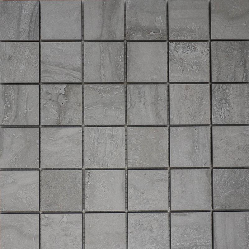 Travertine Grey 2x2 Square Matte Porcelain  Mosaic