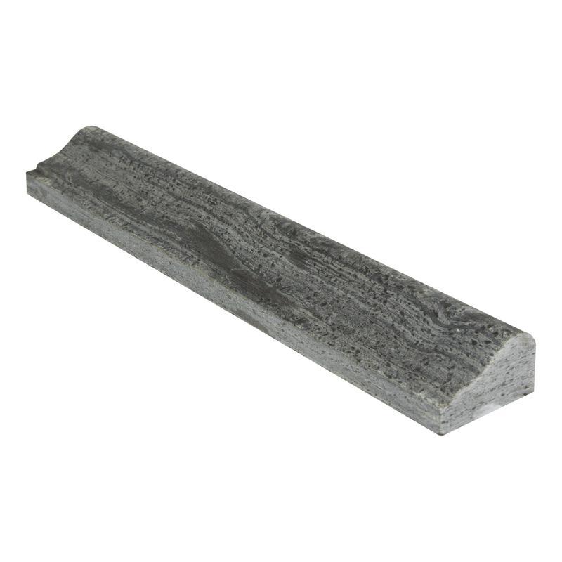 Ostrich Grey Standard Quartzite Trim 2x12 Honed    Chair Rail