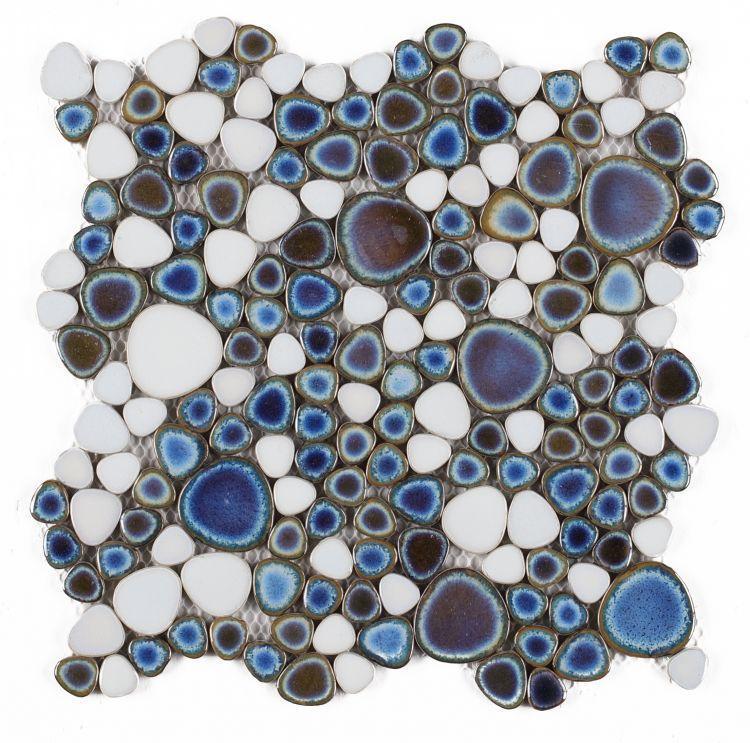 Growing Haze Blue Pebble  Porcelain  Mosaic
