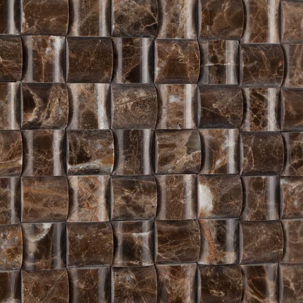 Marble Emperador Dark 3d Polished   Mosaic