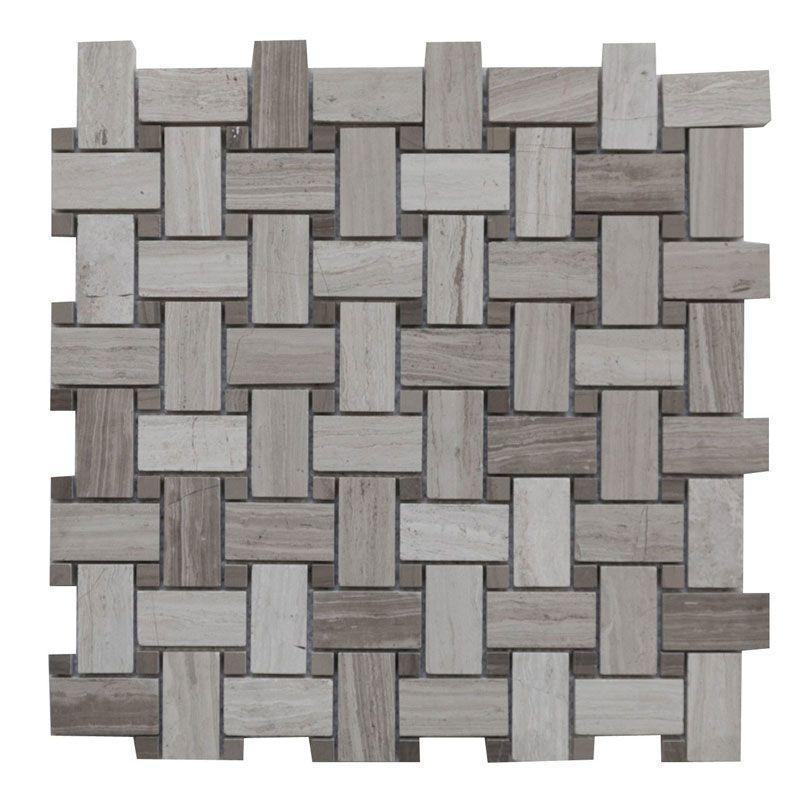 Marble Haisa Light Basketweave Honed   Mosaic (Discontinued)