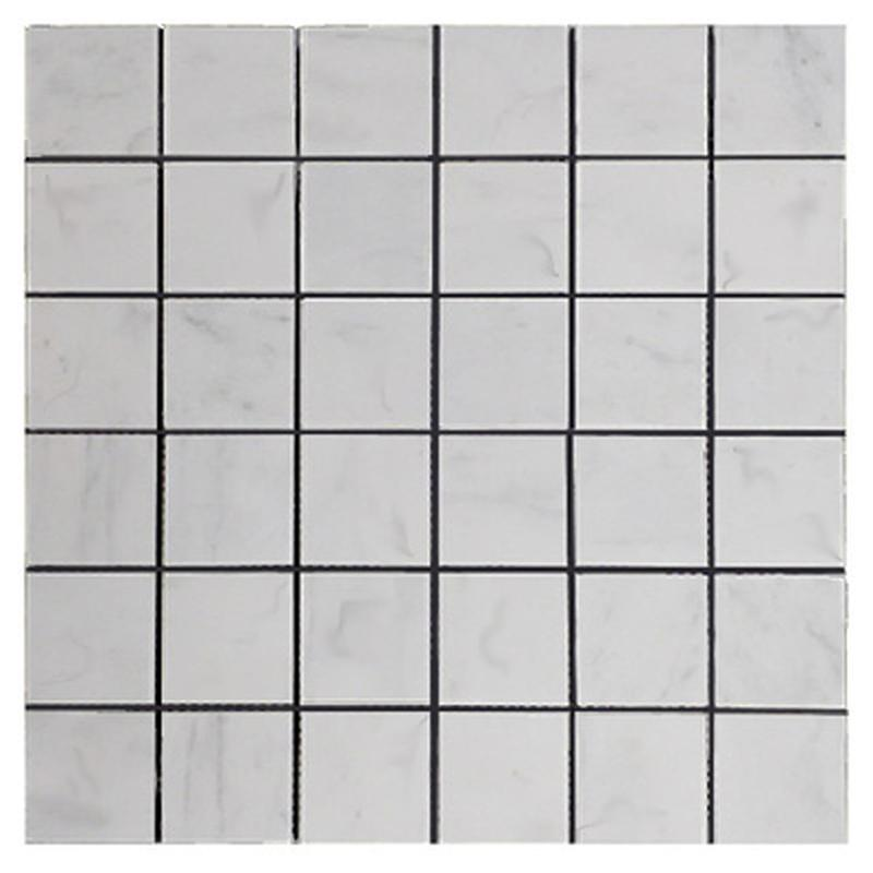 Carrara White 2x2 Square Polished Marble  Mosaic
