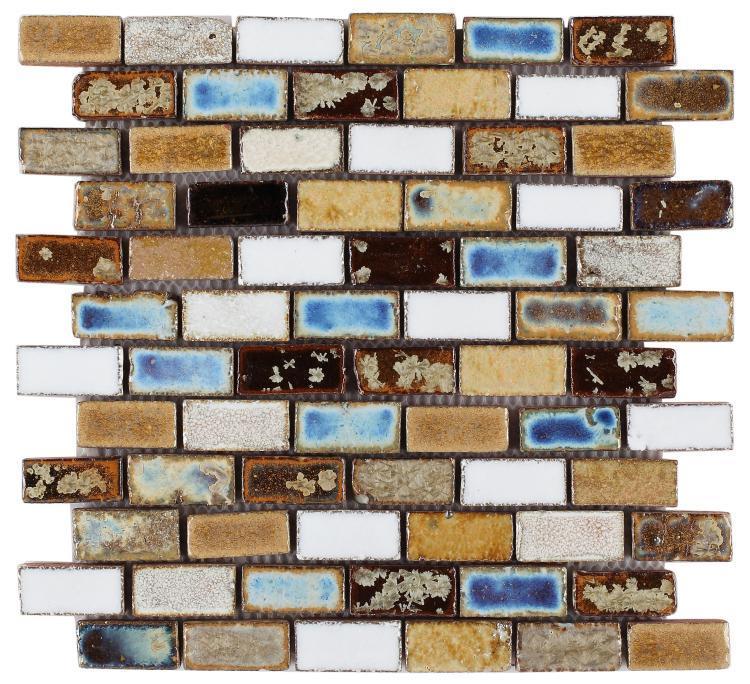 Roman Mango 1x2 Stack  Porcelain  Mosaic