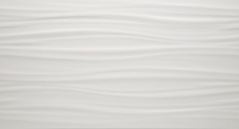 3d Wall Series White Ribbon 12x22, Matte, Rectangle, Ceramic, Tile