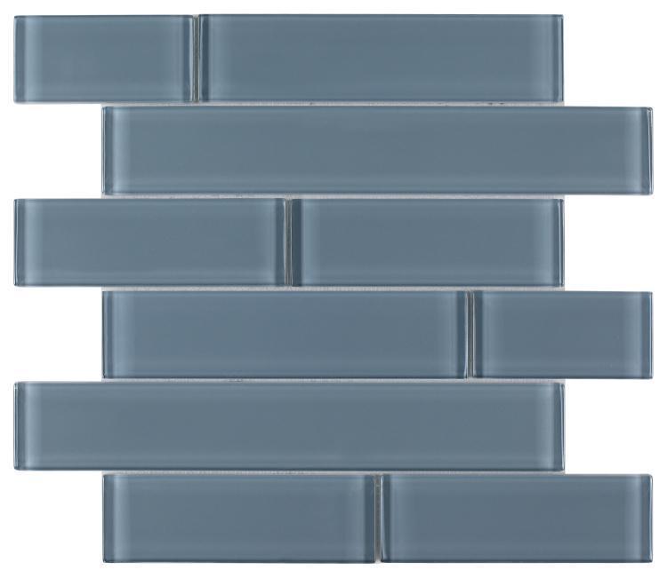 Casale Blue Shining Subway Glossy Glass  Mosaic