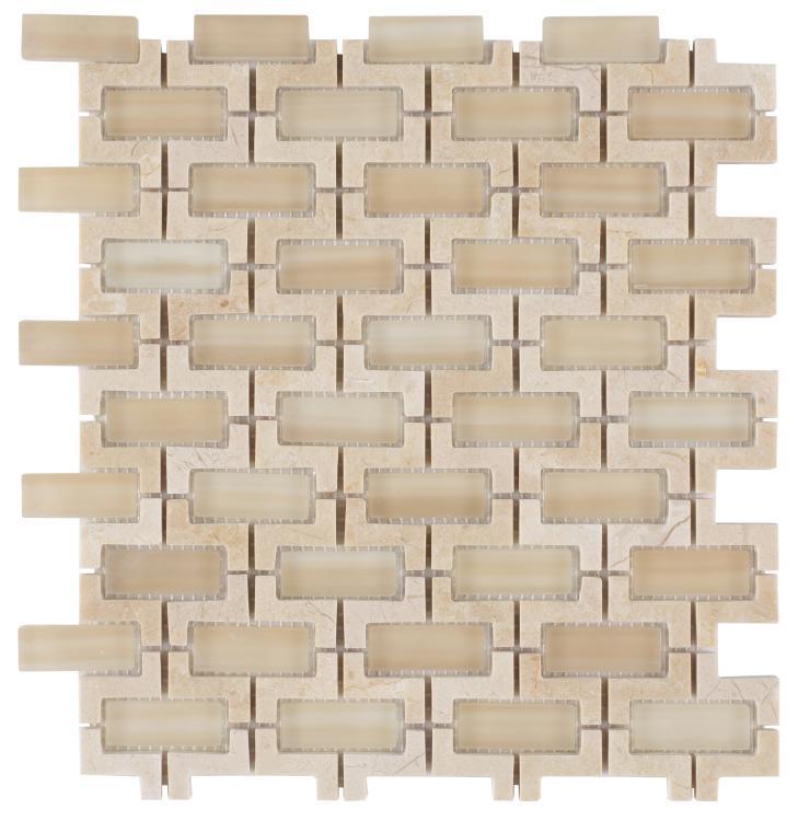 Louvre Marfil Brick  Glass  Mosaic