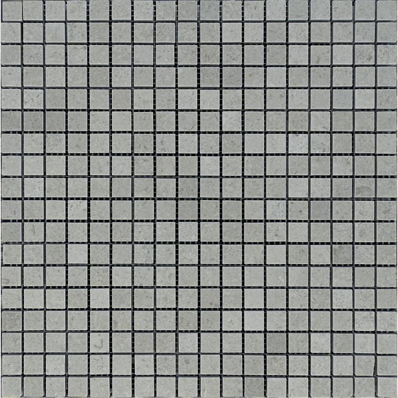 Marble Spanish Grey 0.63x0.63 Square Polished   Mosaic