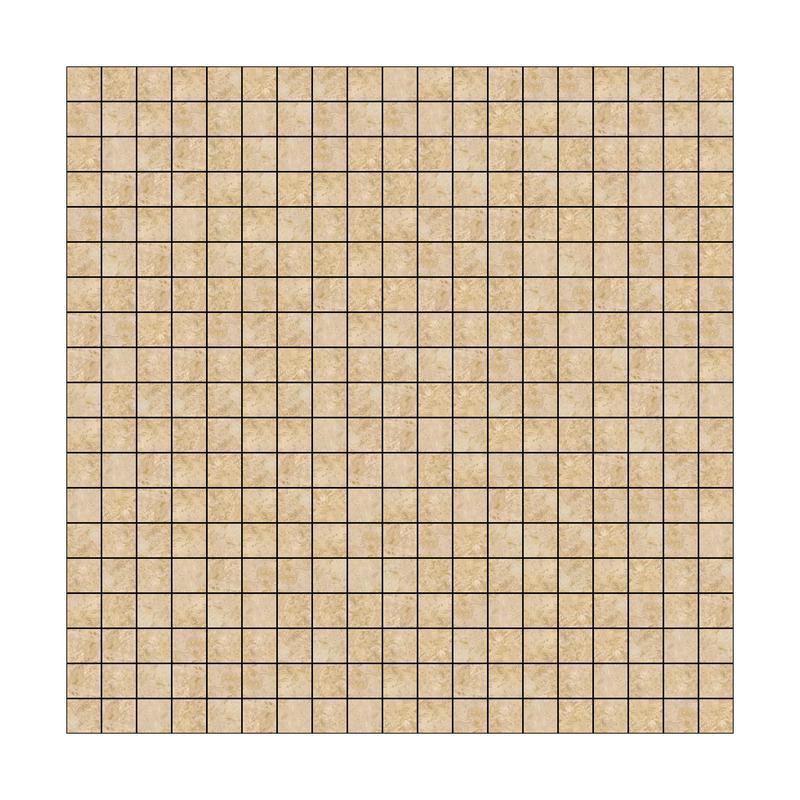 Mosaic Tiles Turco Classico 5/8x5/8 Square Tumbled Travertine