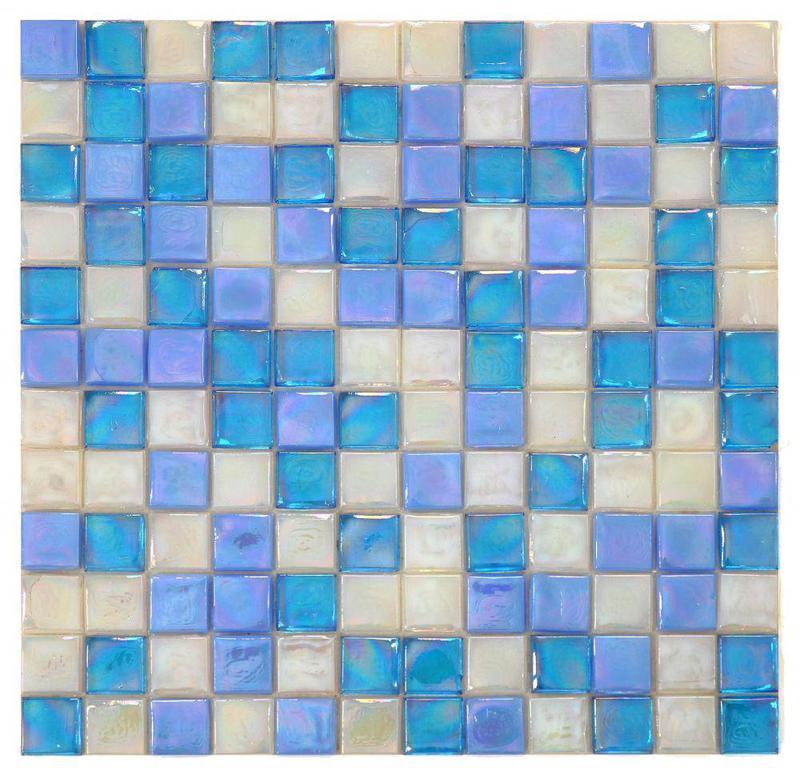 Laguna Beach Square  Glass  Mosaic