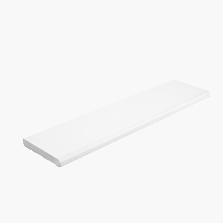 White Tile Royal Polished 3x12 Porcelain Bullnose