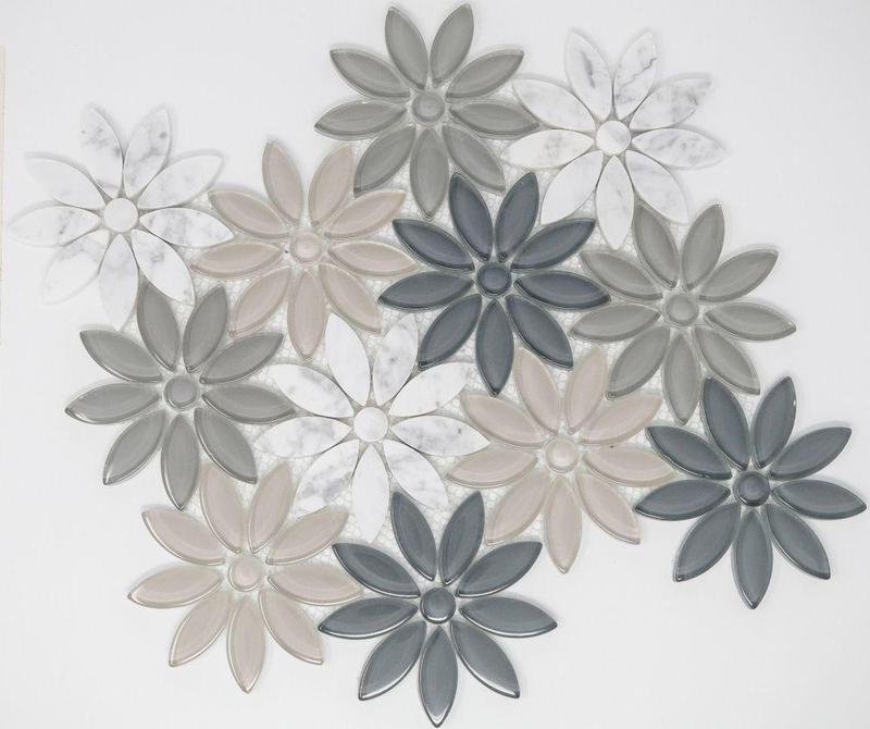 Daisy Sea Flower  Glass  Mosaic
