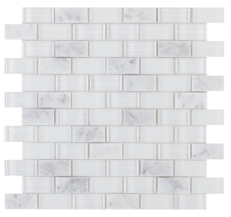 Linear Glass Vic Brick 1x2     Mosaic