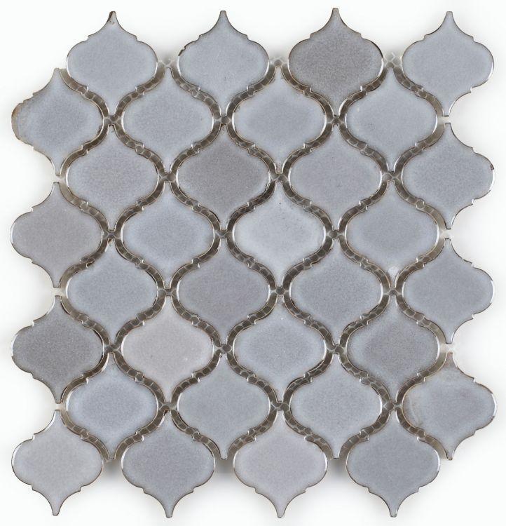 Hulu Cinderella Grey Small Arabesque  Porcelain  Mosaic