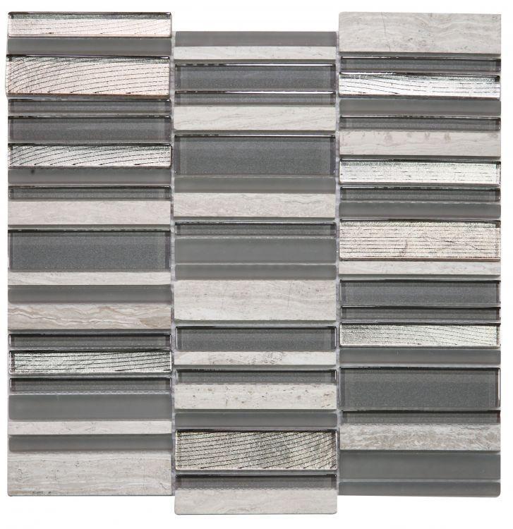 Milano Inga Grey Band Glass  Mosaic