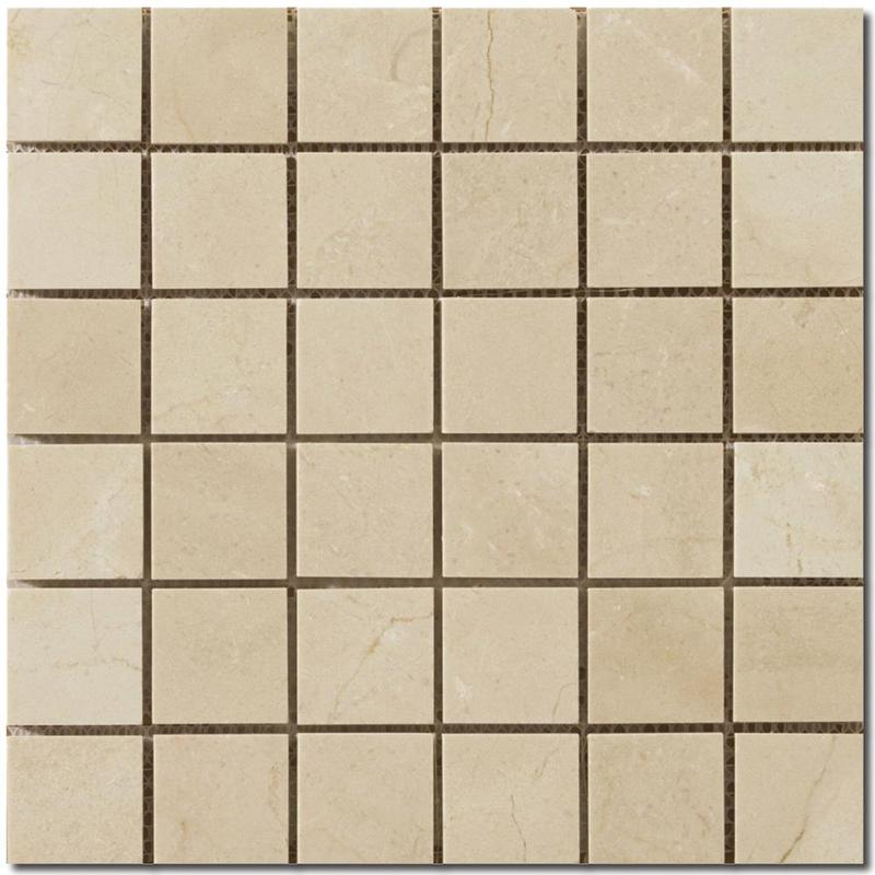 Crema Marfil 2x2 Square Polished Marble  Mosaic