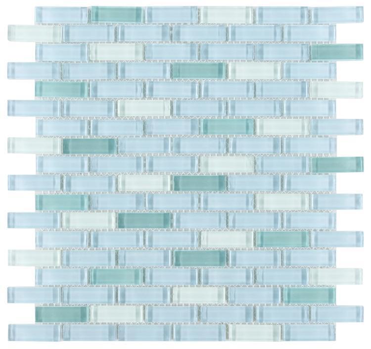 Linear Glass Summer Blue Glossy   Mosaic